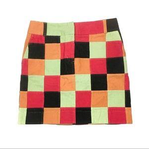 Vineyard Vines Patchwork Corduroy Skirt